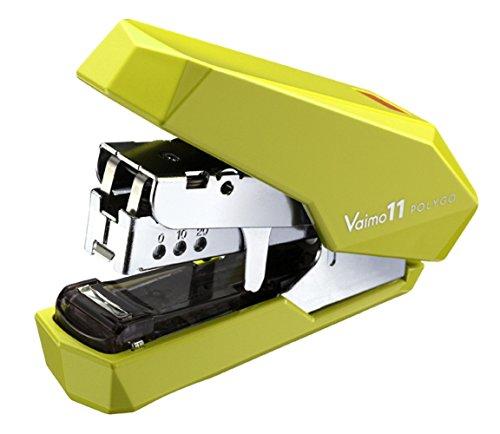 マックス ホッチキス バイモ11 ポリゴ 40枚とじ 50本装填 黄緑 HD-11SFLK/LG