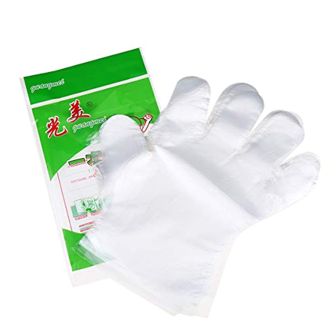 組み立てるベンチャーシンボルCCINEE 使い捨て手袋 極薄ビニール手袋 ポリエチレン 透明 実用 衛生 100枚セット極薄手袋 調理に?お掃除に?毛染めに