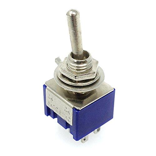 トグル スイッチ ON-ON 1回路2接点 (ブルー 20個)