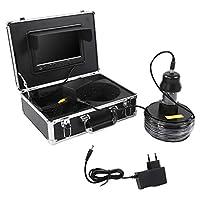 釣りビデオカメラ7インチ液晶モニターHD 700TVLカメラ水中魚群探知機IP68防水38 leds 360°回転カメラ用アイスレイクSeafor海/川釣り50メートルケーブル(700 TVL)