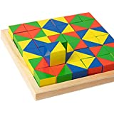 Wooden cubes find pattern building blocks children's educational toys improve memory attention logic creativity creativity im
