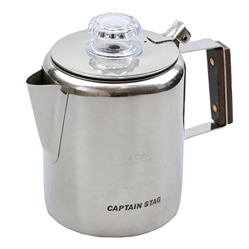 キャプテンスタッグ コーヒーポット 18-8ステンレス製パーコレーター 3カップ