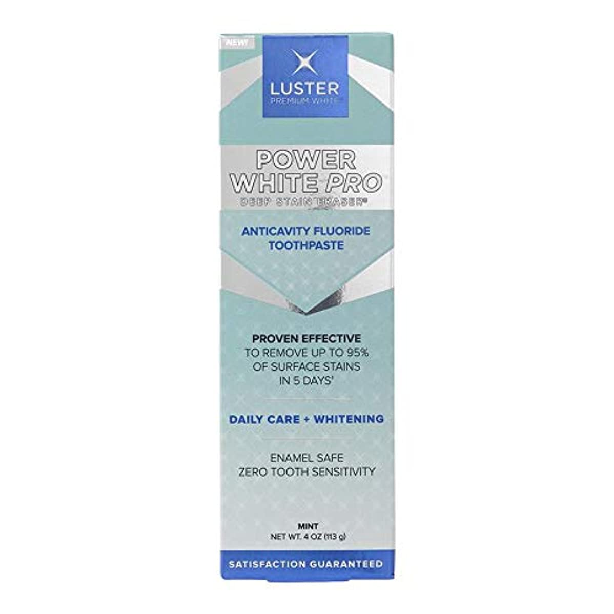 解決するクスクスバドミントンLuster プレミアムホワイト パワーホワイトプロデイリーケアディープステイン消しゴム歯虫歯予防フッ素ホワイトニングの歯磨き粉、ミント