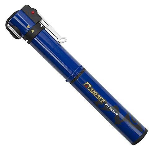 AiraceUSA 【全5色】自転車用ミニポンプ コンパクト携帯ポンプ 空気入れ 仏式/米式/英式バルブに対応 台湾製 (ブルー)