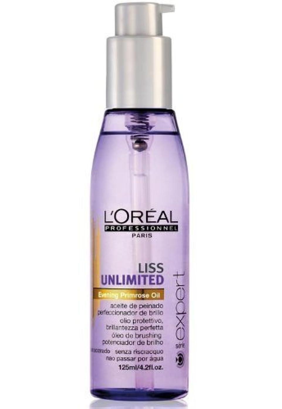同一性熟達なめらかなNew 2013!!! L'oreal Liss Unlimited Oil for Smoothening and shining of hair, softens even the most frizzy hair...