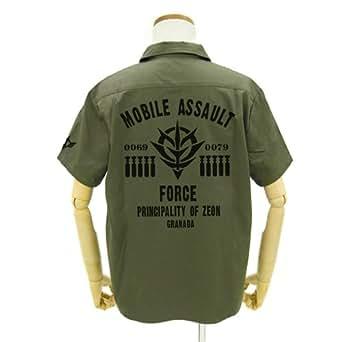 機動戦士ガンダム 突撃機動軍ワッペンベースワークシャツ モス XLサイズ