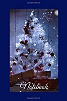Christmas Notebook: CHRISTMAS JOURNAL, NOTEBOOK, DIARY, NOTES, MEMORY BOOK TO WRITE, 6X9 , 100 PAGES, GLOSSY BLUE COVER WITH CHRISTMAS TREE