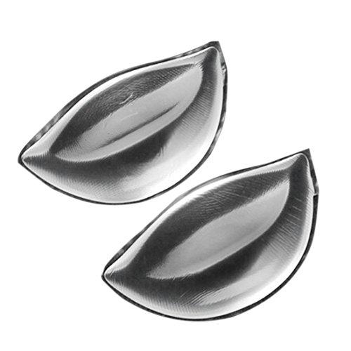 [Jiyaru] シリコンパッド 胸パット ブラパッド挿入 ブラパッド 挿入パッド ビキニ パッド シリコン製 水着 バストアップ 盛り レモン型 ハーフカップ 透明