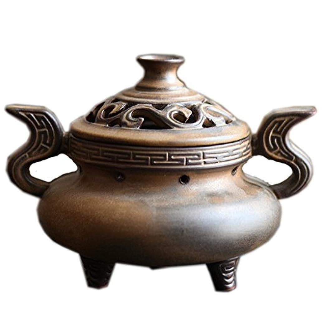 寄り添う模倣検査(ラシューバー) Lasuiveur 陶磁器 香炉 香立て 渦巻き線香 線香立て お香立て