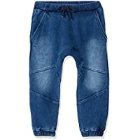 Bebe Baby Felix Knit Denim Trackpants