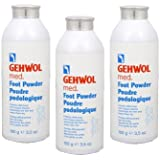 GEHWOL ゲウォール フットパウダー 100g 3個セット 靴や足の臭い対策用、除菌?抗菌?消臭パウダー
