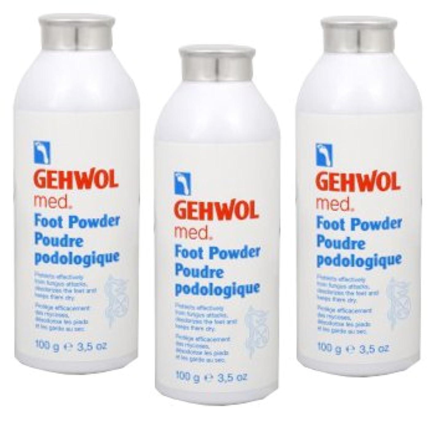 舌なにんじん誤解を招くGEHWOL ゲウォール フットパウダー 100g 3個セット 靴や足の臭い対策用、除菌?抗菌?消臭パウダー