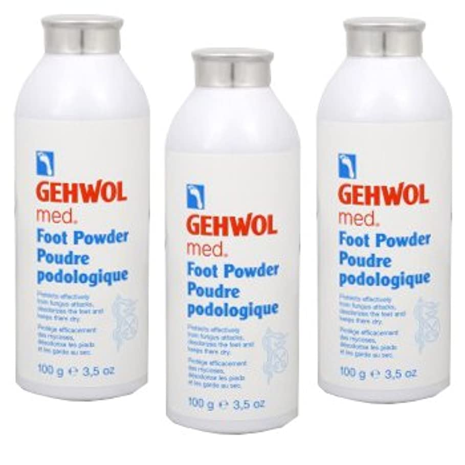 リム家事ドルGEHWOL ゲウォール フットパウダー 100g 3個セット 靴や足の臭い対策用、除菌?抗菌?消臭パウダー