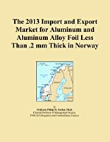 The 2013 Import and Export Market for Aluminum and Aluminum Alloy Foil Less Than .2 mm Thick in Norway