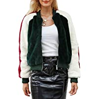 BerryGo Women's Fashion Faux Fur Coat Zipper Bomber Jacket Outwear