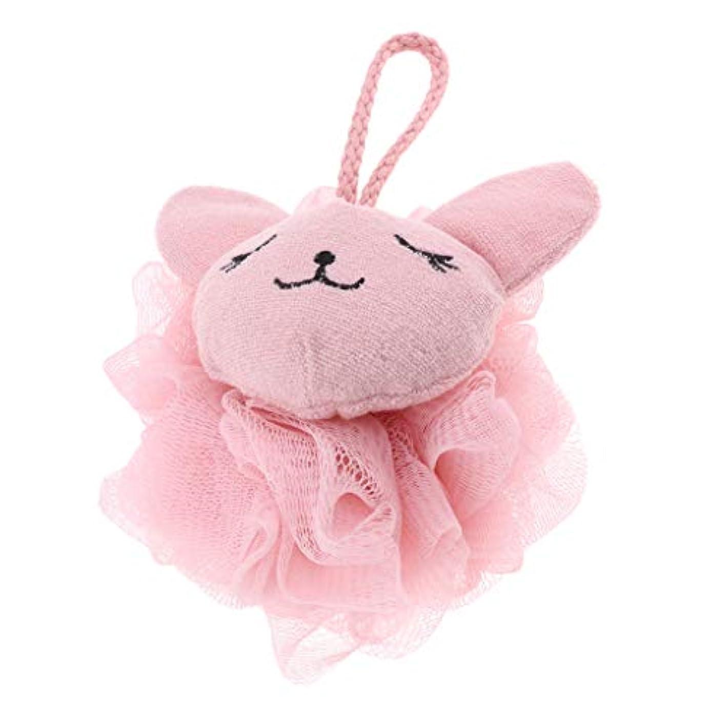 CUTICATE シャワーボール ボディスポンジ 漫画 動物 お風呂 バスグッズ 体洗い 柔らか 快適 全2色 - ピンク