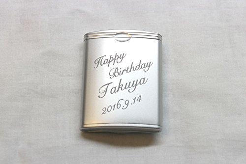 【名入れ】【ギフト】【携帯灰皿 タバコケース_ハニカム3 】 ご希望のお名前・日付・メッセージをエッチング(彫刻)いたします[30文字までの彫刻となります]30文字以上メッセージ・日付彫刻希望の方はご相談ください