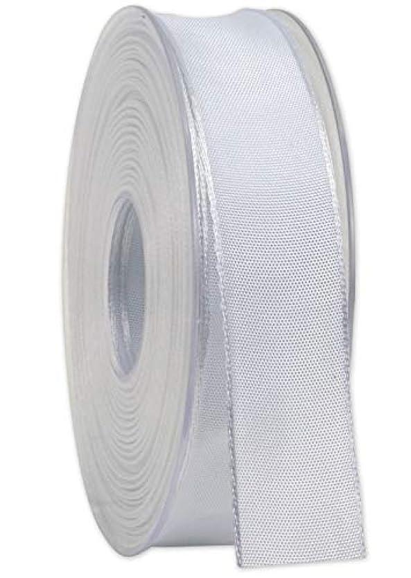 感謝している時間意味のあるDa Vinci artfleur ワイヤー入りリボン 幅25mm 25m巻き ホワイト 色番01. 9660 Original