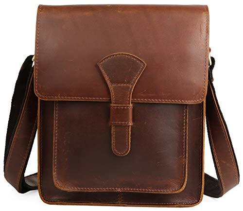 4e3628c1e033 [(チョウギュウ) 潮牛] ビンテージ 本革 メンズ ショルダーバッグ 斜め掛け iPad対応 厚手牛革 鞄 ボルドー