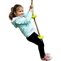 Toymentノットロープ室内、クライミングロープ 、外遊び、アウトドア、登山 、登り用、練習 (グリーン)
