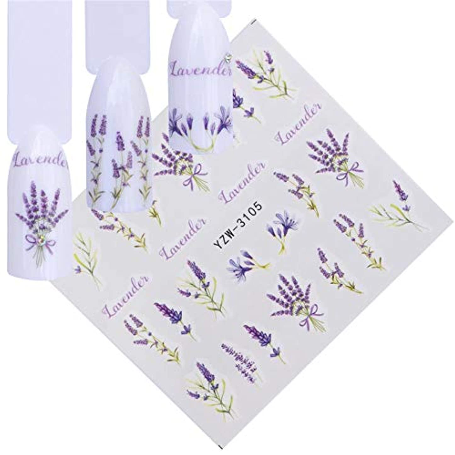 スーパーマーケットボイコット叙情的なSUKTI&XIAO ネイルステッカー 装飾スライダー、Yzw-3105のための美のスライダーの釘水ステッカーの花の咲く多彩なイメージの釘の芸術のステッカー