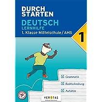 Durchstarten 1. Klasse - Deutsch AHS - Lernhilfe: Uebungsbuch mit Loesungen