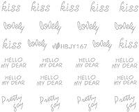 ネイルシール アルファベット 文字 パート2 ブラック/ホワイト/ゴールド/シルバー 選べる44種 (シルバーSP, 30)