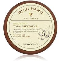 THE FACE SHOP Rich Hand V Hand and Foot Total Treatment ザフェイスショップ リッチハンド V ハンド・ フット トータルトリートメント [並行輸入品]