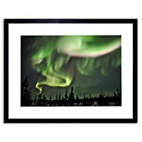 Photo Skyscape Space Northern Lights Aurora Borealis Framed Wall Art Print