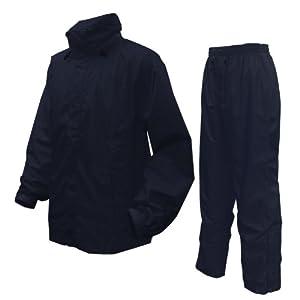 アーヴァン ブリザテック 全5色 全5サイズ 上下スーツ ネイビー L 防水・透湿 収納袋付き #9000 [正規代理店品]