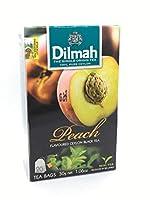 Pure Ceylon Flavoured black Tea by DILMAH || 風味の良い紅茶 || 純粋なセイロン || 30g -20 tea bags || 林檎,(apple0,シナモン(cinnamon),バニラ(vanilla),ストロベリー(strawberry),ジンジャー(ginger). (peach 桃)