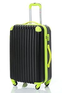 [トラベルハウス] Travelhouse スーツケース 超軽量 TSAロック搭載 【一年修理保証】 ABS 半鏡面仕上げ4輪 ファスナータイプ  ss型国内・国際線機内持込可 (19色4サイズ) suitcase