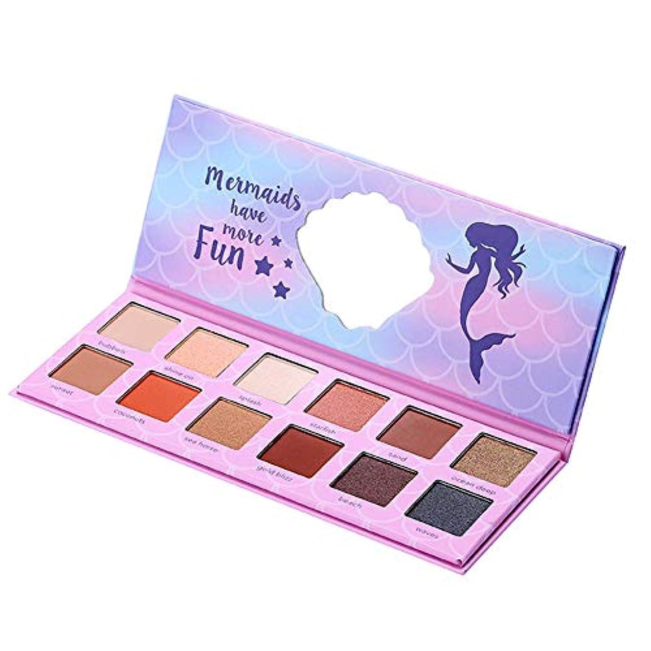 フィッティング表現もっと少なくRabugogo 12色キラキラマットシマーアイシャドーパレット防水長持ちパーティー化粧パレット化粧品