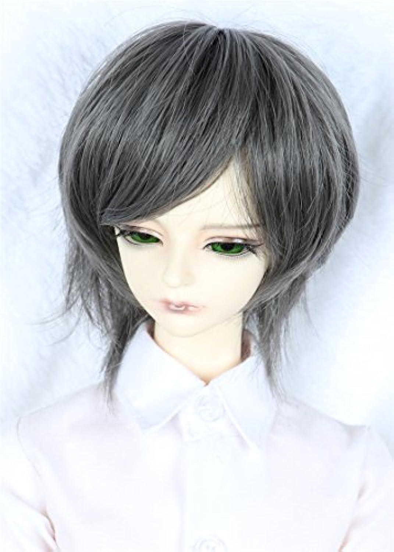 Linfairy 8~9 inch 1/3 サイズ ドール用 ウィッグ フィギュア 人形用 BJD 短い髪 Short Hair (スチールブルー)