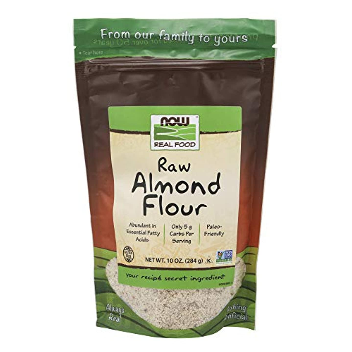 移住する悩みアラーム[海外直送品] ナウフーズ   Almond Flour 10 oz