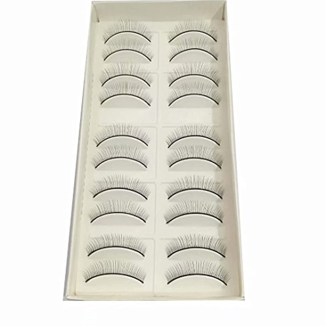 ソファー真夜中樹皮練習用つけまつげ トレーニング用睫毛 真ん中から両端に段々短くなる(真ん中だけ8mm) 10ペア入り