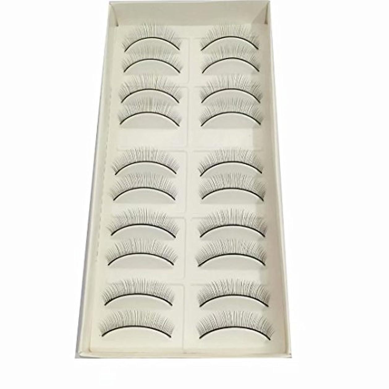 避けられないメロディー受ける練習用つけまつげ トレーニング用睫毛 真ん中から両端に段々短くなる(真ん中だけ8mm) 10ペア入り