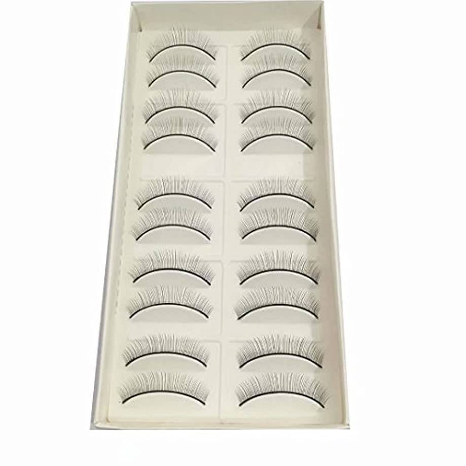 富ケーキ溶融練習用つけまつげ トレーニング用睫毛 真ん中から両端に段々短くなる(真ん中だけ8mm) 10ペア入り