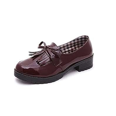 【ノーブランド品】トラッドシューズ 靴 シューズ おじ靴 ローファー フリンジ タッセル 厚底 BR39