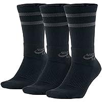 (ナイキエスビー) NIKESB 靴下 3Pソックス ドライ クルー 黒 速乾 SX5760-010 ブラック/アンスラサイト
