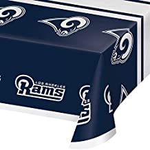 "Creative Converting 335927case Los Angeles Rams Tablecloths 54"" 108"" Blue"