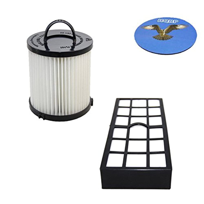 HQRPフィルタキットfor EurekaペットPal 3271 AVZ 3271blu 3271bz / Pet Lover 3276 AZ 3276 AVZ Upright Vacuum Cleaner , hf-7 dcf-21交換+ HQRPコースター
