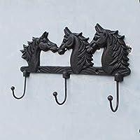 KTYX ヨーロッパとアメリカのヴィンテージ錬鉄製の馬のフックの装飾 コートハンガー