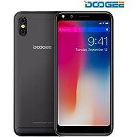 SIMフリースマートフォン, DOOGEE X53 スマートフォン本体 - 5.3 インチ 18:9 HD Android7.0 3G (au不可) SIMフリー 1+16GB 2200mAh バッテリー 5MPカメラ クアッドコア 黒 一年保証