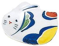 ウサギ 民芸香皿セット(B) [ 7 x 5.5cm ] 【 香皿 】 【 置物 インテリア ギフト プレゼント 】