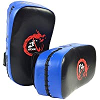 PUレザーKicking Strikeパッドターゲット三田ボクシングテコンドーターゲットターゲットHand Boxingボクシング保護用ブルー
