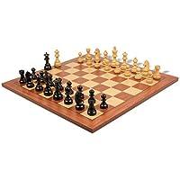 German Knight Staunton Chess Set in Ebonized Boxwood with Mahogany Chess Board - 2.75 King by The Chess Store [並行輸入品]