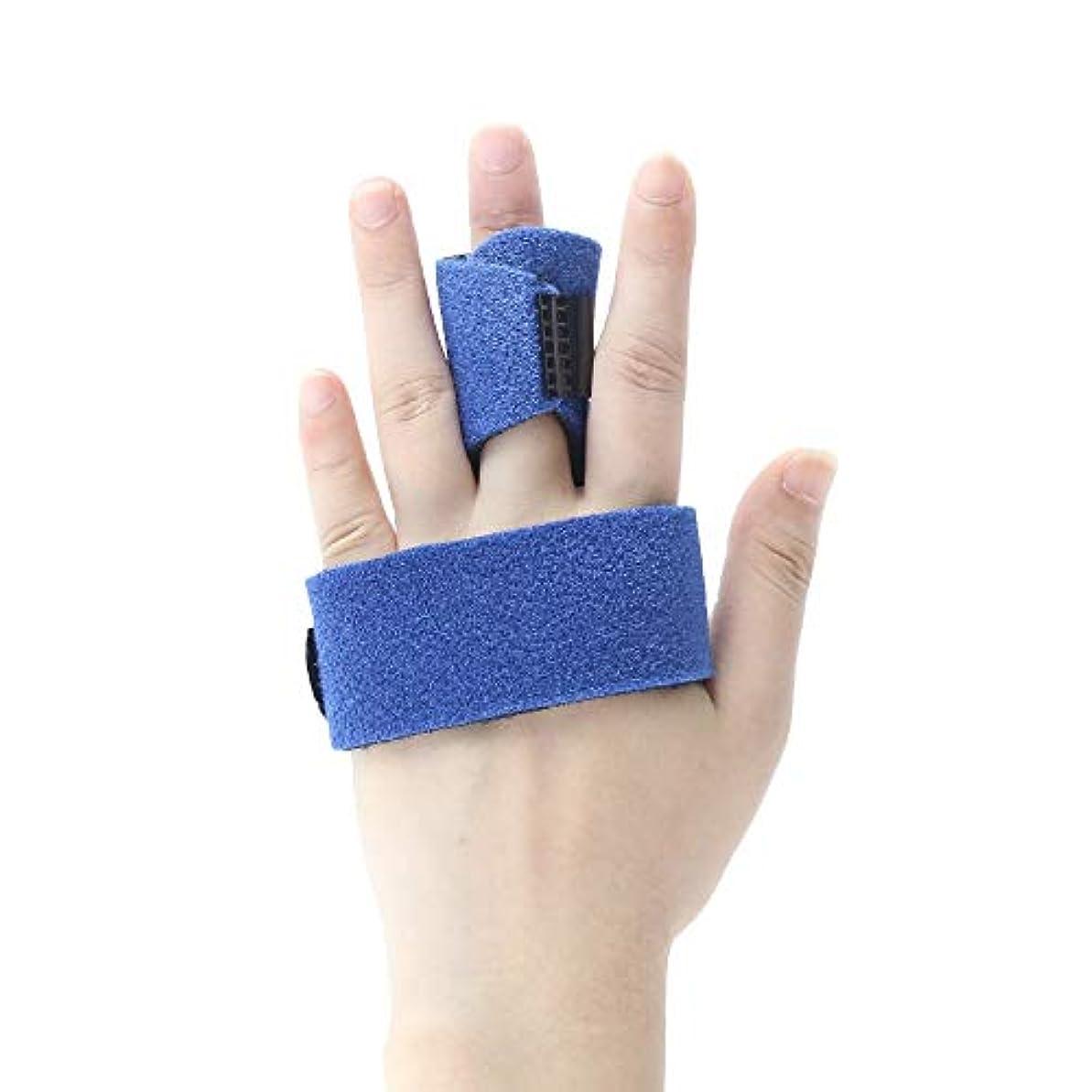 潮サンダース技術ZYL-YL 五本指骨折捻挫プロテクター親指ブレーススプリントスチールバーのサポート付きフィンガーストラップ (Edition : Left)