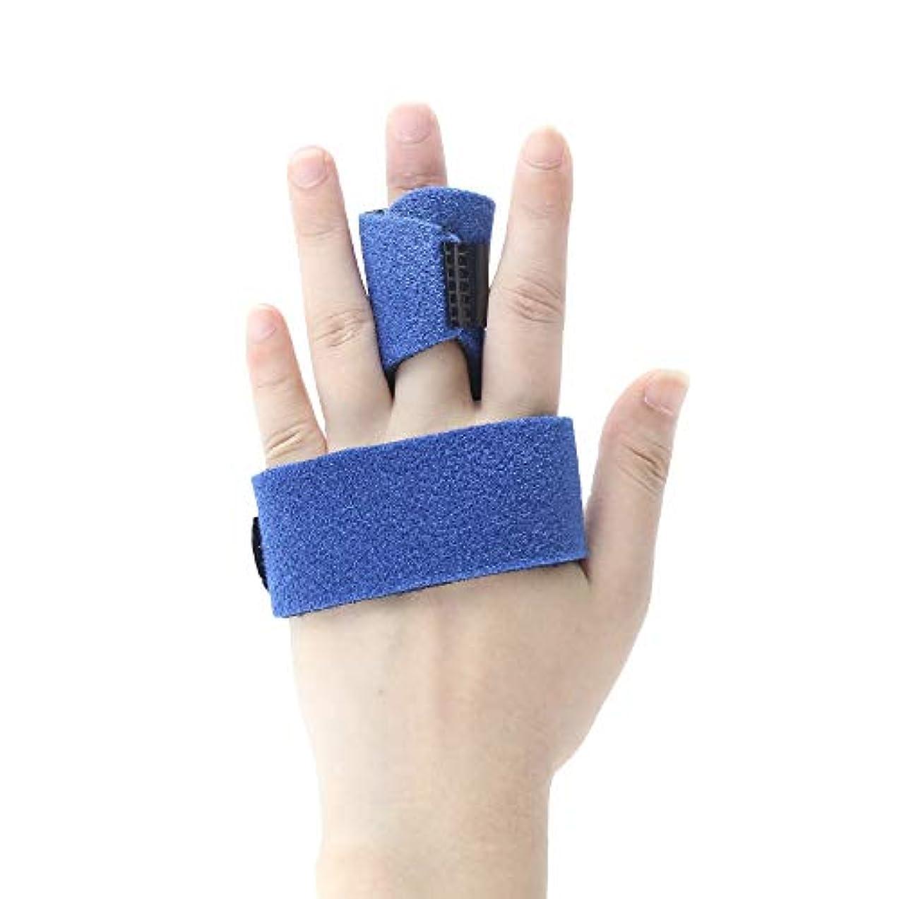 触覚連想の配列ZYL-YL 五本指骨折捻挫プロテクター親指ブレーススプリントスチールバーのサポート付きフィンガーストラップ (Edition : Left)