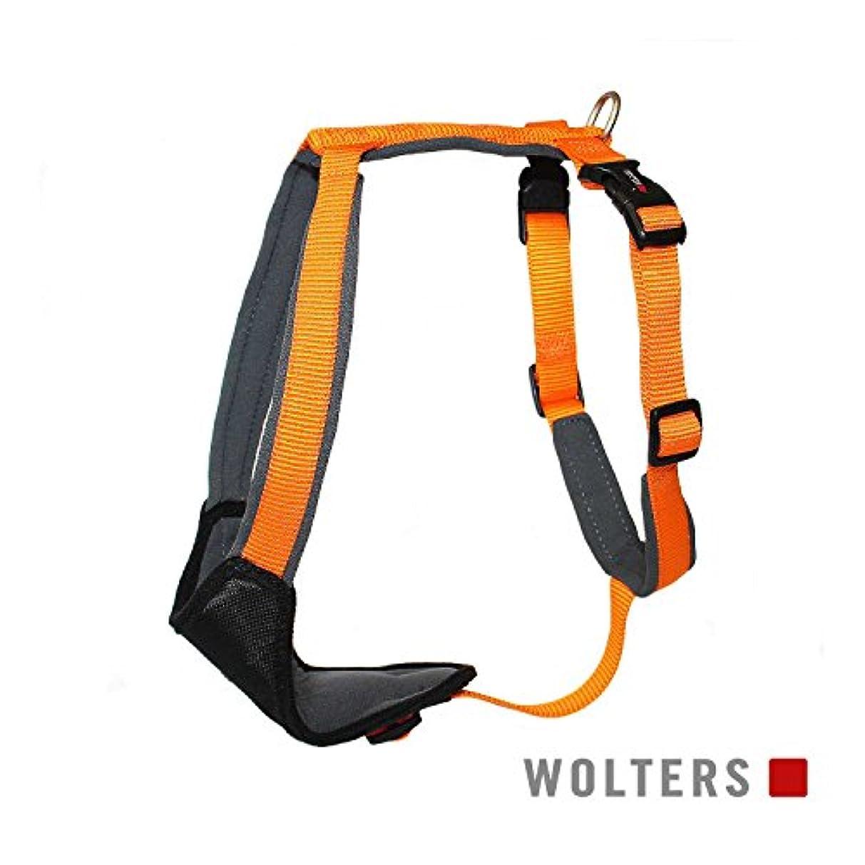 回転ベース幽霊ウォルターズ コンフォートハーネス オレンジ×グレイ 40-45cm